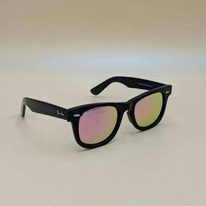 Pink Mirrored Unisex Wayfarer 2140